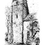 Peldon Church 1884 showing earthquake damage