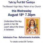 Advwet for Bills talk on the Virgin Mary
